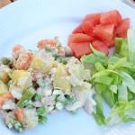 tunsalat med kartofler og asparges