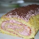 glutenfri hindbærroulade