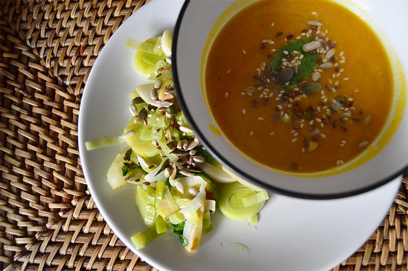 Lækker glutenfri hokkaido suppe