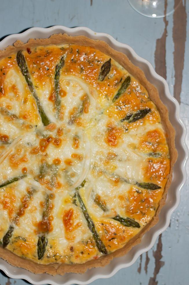 Glutenfri tærte med grønne asparges
